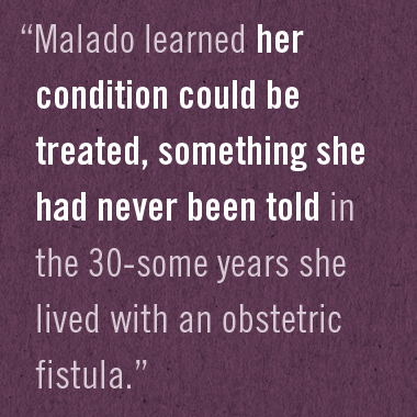 For One Fistula Client, a Month of Firsts
